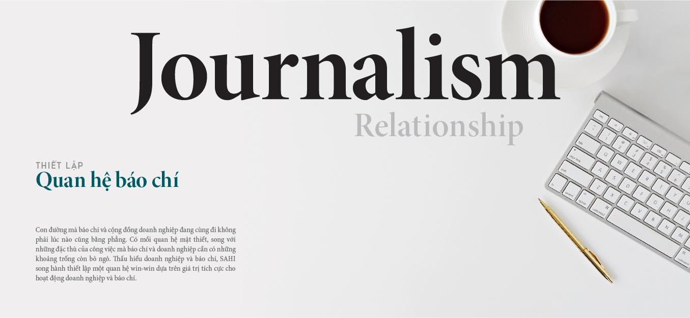 thiết lập quan hệ báo chí